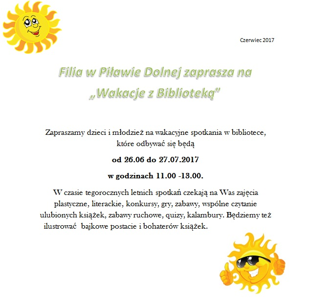 wakacje Piława